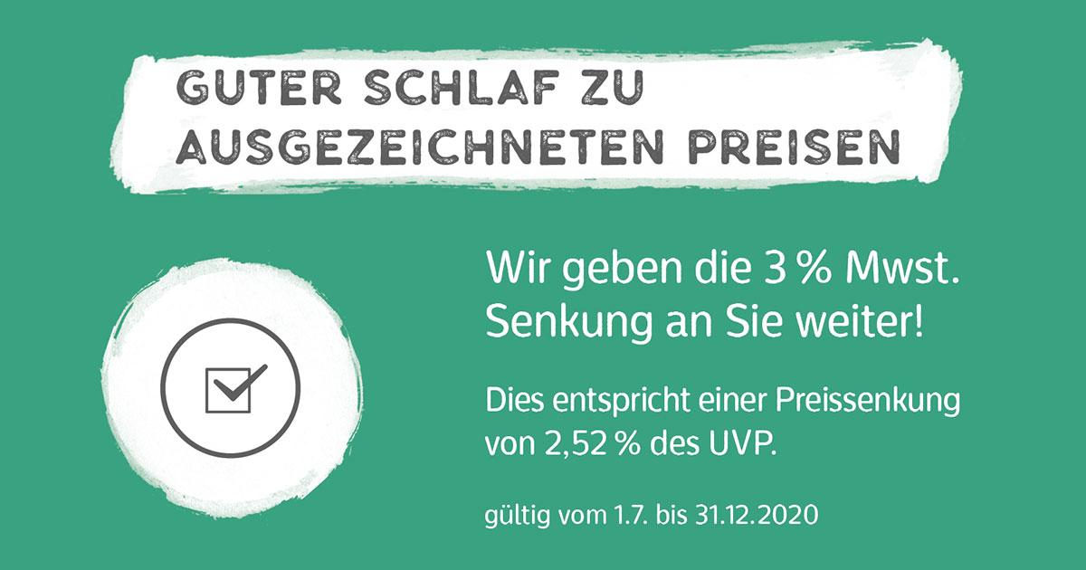 Wir geben die Mehrwertsteuersenkung an Sie weiter - Betten Wührmann Bremen